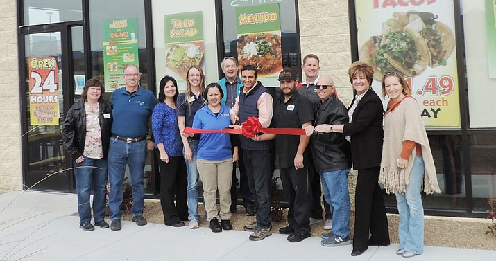 The Prescott Valley Chamber of Commerce celebrated new chamber member Rilibertos with a ribbon cutting.