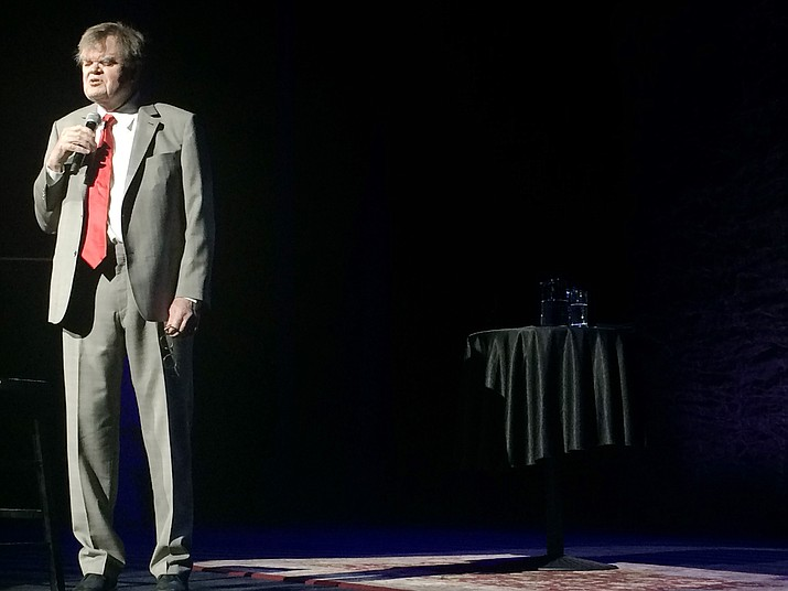 Garrison Keillor's first show in months, at Yavapai College Wednesday night.