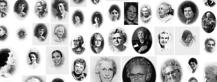 A collage of some of the women who have been inducted into the Arizona Women's Hall of Fame.