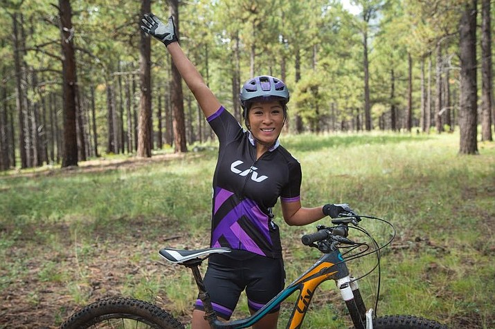 Lisa Land, a nurse practitioner at Kingman Regional Medical Center, was chosen to be on the Liv Cycling Trail Squad that's training for a mountain bike race in South Africa. (Courtesy Photo)