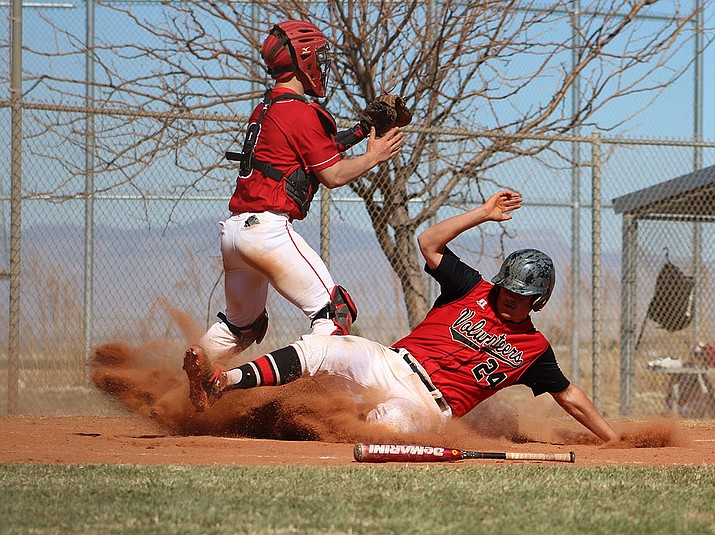Lee Williams' Mike Bathauer ties the game Friday against River Valley in the quarterfinals of the Big Red Construction Invite.  The Vols advanced to the title game Saturday, but came up short in a 5-2 loss to Lake Havasu.