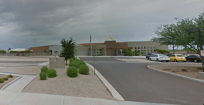 The Arizona Board for Charter Schools on Monday revoked the charter for Discovery Creemos Academy in Goodyear. The school had consistent low state test scores and a deficit of more than $3 million in net assets in June 2016, according to an audit reviewed by the state board last year. (Google Street View Photo)