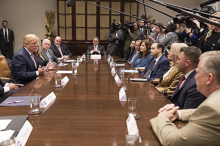 President Donald J. Trump meets with state and local officials to discuss school safety. (Official White House Photo by Shealah Craighead)