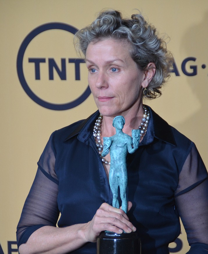 """Look around, ladies and gentlemen,"" Frances McDormand said during her best actress acceptance speech. ""We all have stories to tell."""