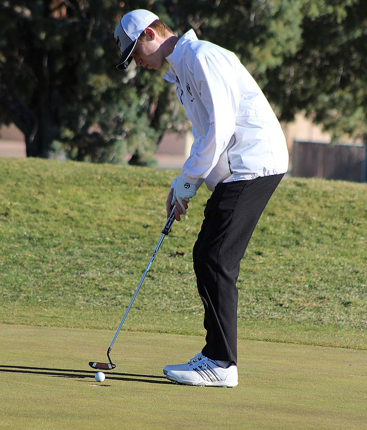 Kingman Academy's Jacob Heppler finished second Monday with an 11-over-par 47, as the Tigers took first at Cerbat Cliffs Golf Course.