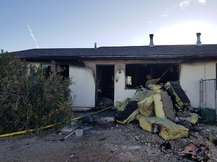 Hualapai Nation Emergency Services responded to this duplex fire Saturday in Peach Springs that claimed the life of one of the residents.