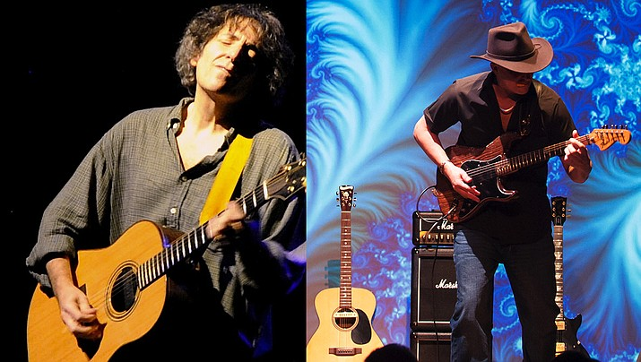 Michael Gulezian (left) is one of the most highly acclaimed solo acoustic instrumental guitarists of our time. Anthony Mazzella (right) is one of the most virtuosic and passionate guitar players in the world today.