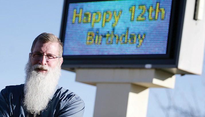 Not celebrating his 12th birthday, Clarkdale-Jerome Principal Steve Doerksen has been in education the past 29 years, the past four at Clarkdale-Jerome School. (Photo by Bill Helm)