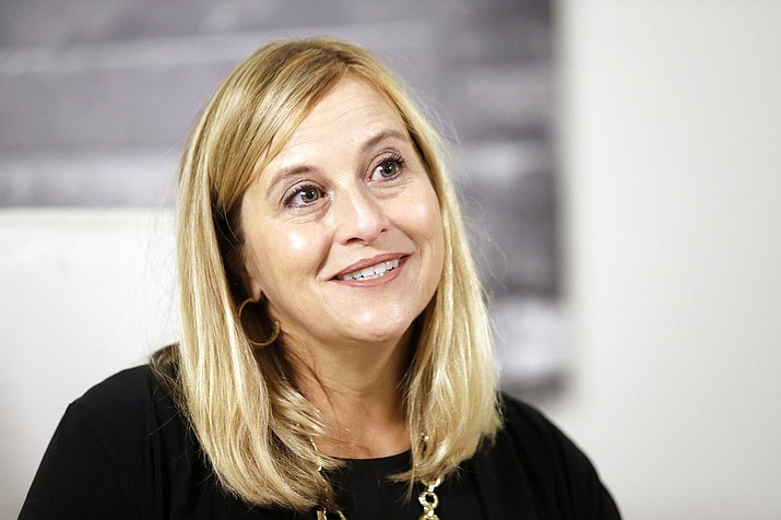 In this Monday, Aug. 7, 2017 file photo, Nashville Mayor Megan Barry speaks during a news conference in her office, in Nashville, Tenn. Barry has resigned after admitting she had an extramarital affair with her lead bodyguard and shortly after pleading guilty to a felony theft charge. Barry first admitted Jan. 31, 2018 to having an affair with Sgt. Robert Forrest, she said she planned to stay in office. But on Tuesday, March 6 she said her time in office has concluded. (AP Photo/Mark Humphrey, File)