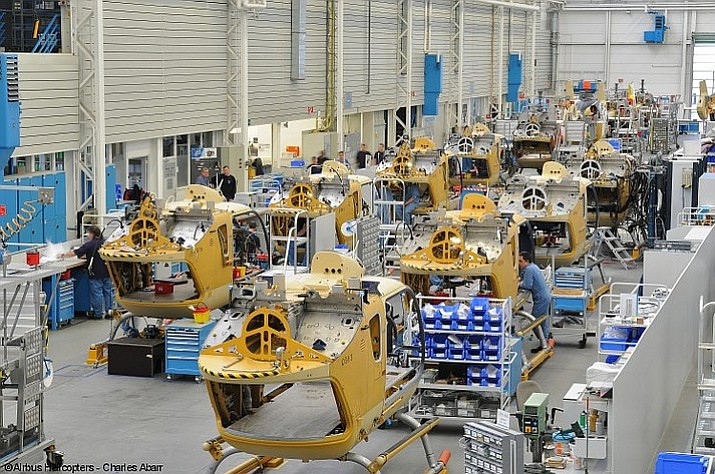 An Airbus helicopter assembly line in Sino, China. (Charles Abarr/Airbus Helicopters)
