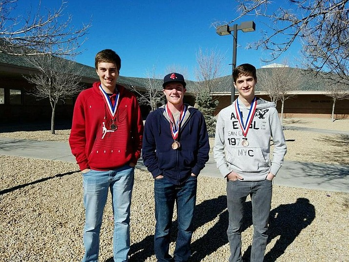 From left are AP students Aaron Massis, Shane Pryor, and Mark Madle. (HUSD/Courtesy)