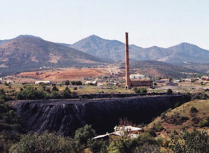 Site overview — the former Humboldt Smelter property in the foreground and the former Iron King Mine property in the background. (EPA/Courtesy)