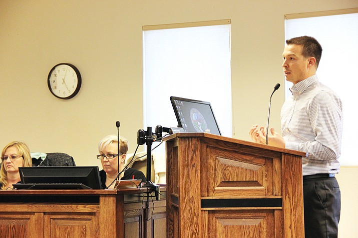 Stephen Crandall of SC Audit & Accounting Solutions, LLC, presented to the Chino Valley Fire District, Central Yavapai Fire District and Central Arizona Fire and Medical Authority fire boards on Monday, Feb. 27, about the auditing process for the boards in fiscal year 2016-17. (Max Efrein/Review)