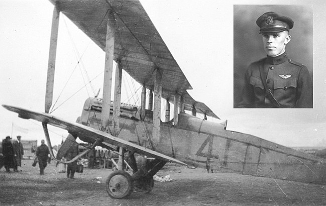 Lieutenant Alexander Pearson flew a de Havilland DH-4 plane for survey flights at the Grand Canyon in 1921. Pearson used the Williams airfield as his base.  (National Park Service)
