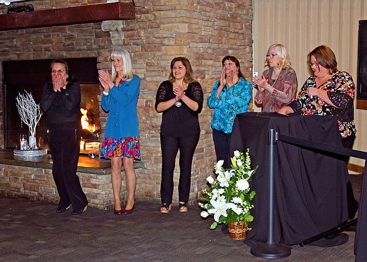 Employees are recognized at the annual banquet (Photos courtesy of Grand Canyon Railway)