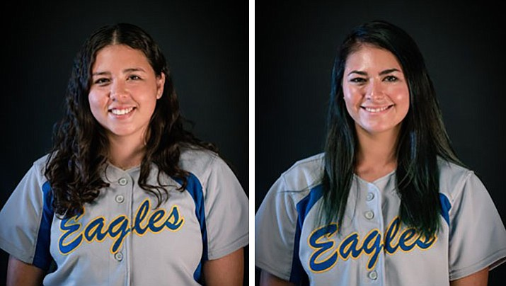 Embry-Riddle's Daisy Hatcher-Taylor, left, and Carly Carlsen