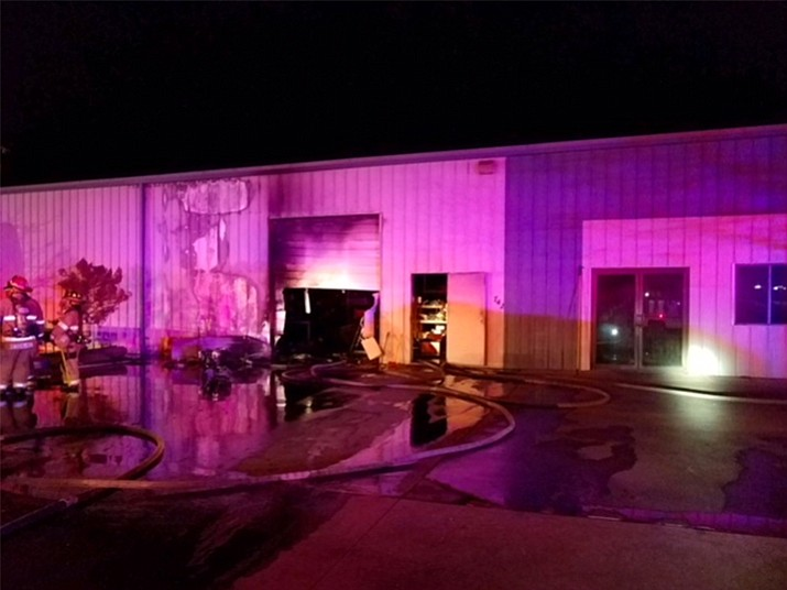 A commercial building off of E. Moeller Street in Prescott was significantly damaged in a fire late last night, Tuesday, March 6.