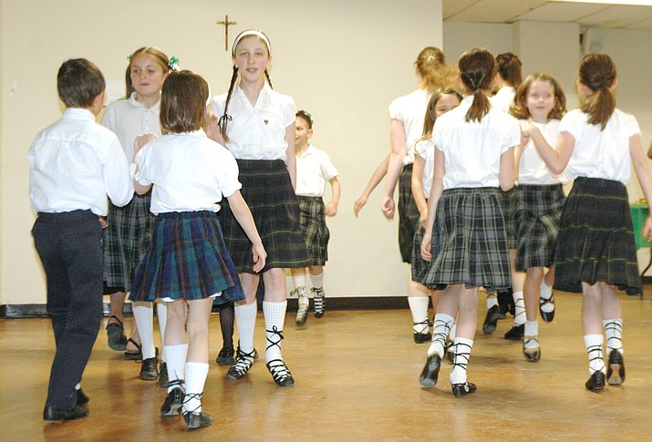 Sacred Heart Catholic Church's Irish Step Dancers are set to perform at various nursing homes and the Prescott Public Library next week. (Jason Wheeler/Kudos)