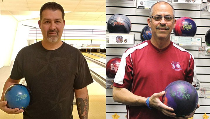 Bobby Steed, left, and Art Garcia recently added to their bowling accolades at Cerbat Lanes. Steed bowled his 16th 300 game, while Garcia tallied the 22nd 800 series of his career.