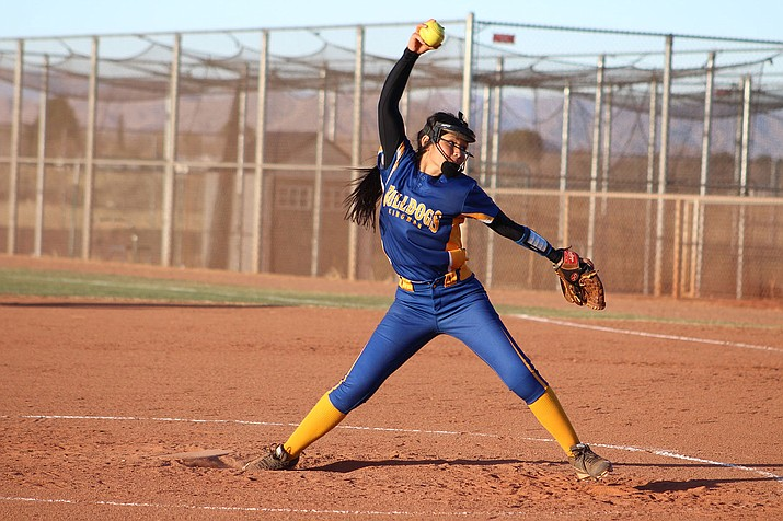 Kingman's Lilianna Valdivia picked up the win over Odyssey Institute after yielding just one run on six hits with four strikeouts and no walks.