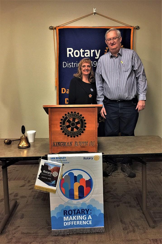Henry Varga and club president Susan Williams. (Courtesy Photo)