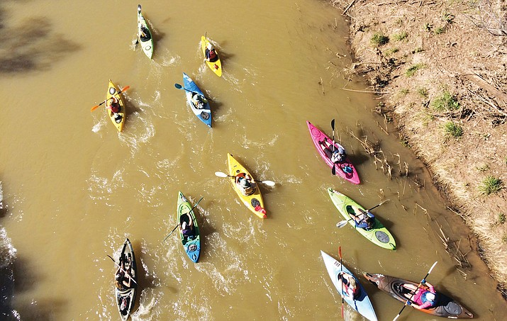 Now in its sixth year, the Verde River Runoff will kick off the festival at 10 a.m. Saturday, March 17 with a 10-mile canoe/kayak race on the Verde River that begins at the White Bridge River Access Point. (VVN photo)