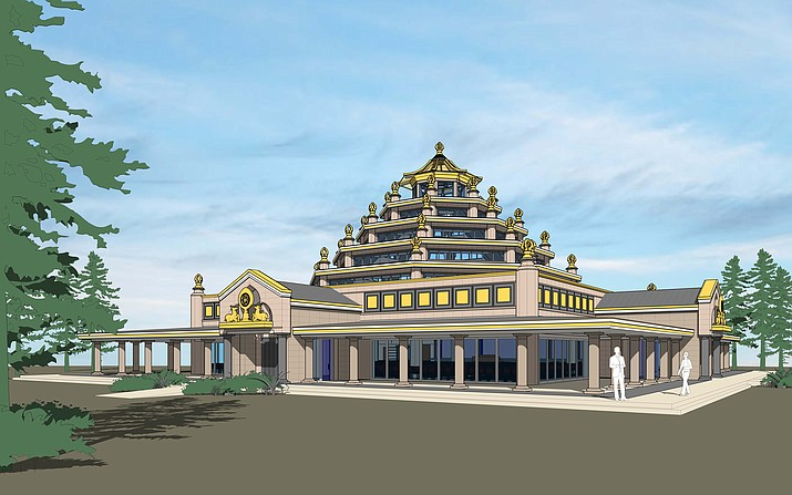 The International Kadampa Retreat Center in Williams plans to break ground on its new temple March 22. (Submitted drawing)