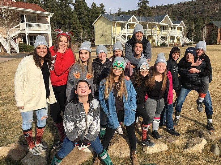 Williams youth stop for a photo op during the 2017 Young Life Winter Camp at Lost Canyon. (Submitted photo)