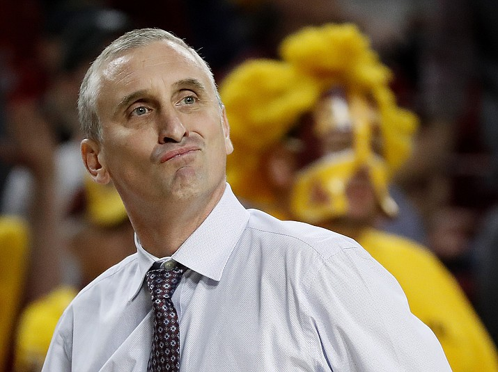 In this March 3, 2018, file photo, Arizona State head coach Bobby Hurley reacts to a call during the first half against Stanford in Tempe. (Matt York/AP, File)
