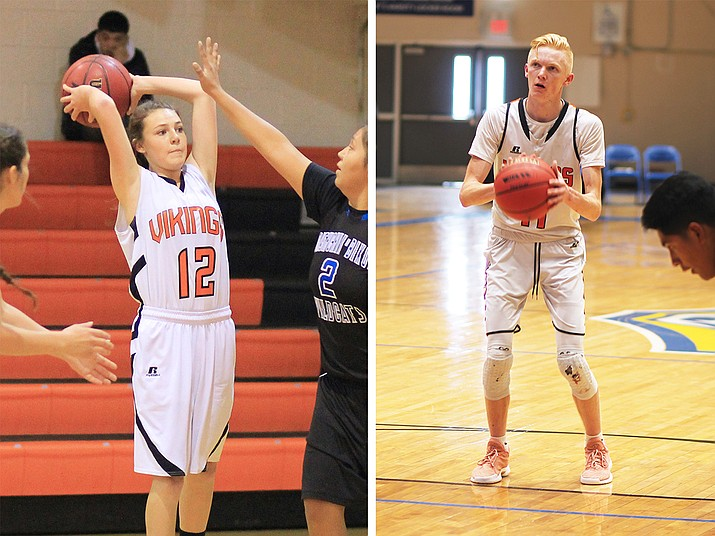 Maegen Ford (left) was honorable mention All-Conference for the 2017-2018 season. Payce Mortensen (right) was All-Conference 1st team. (Wendy Howell/WGCN)