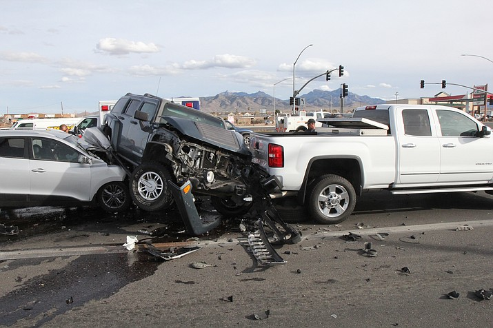 The driver of the Hummer was flown to University Medical Center in Las Vegas, but is doing well as of the last report.