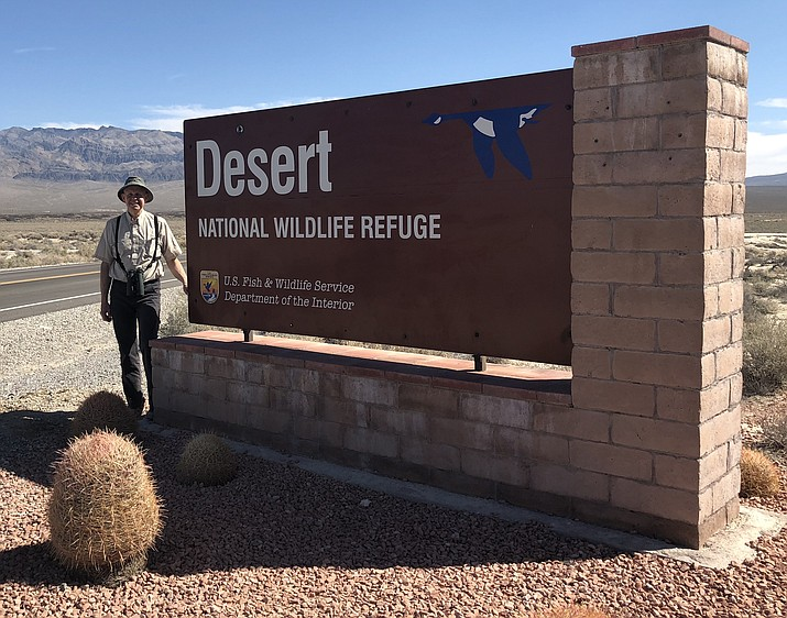 Eric Moore is pictured Friday, March 9, during a birdwatching field trip in Nevada. (Courtesy photo)