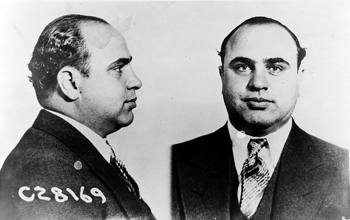 Al Capone By United States Bureau of Prisons [Public domain], via Wikimedia Commons