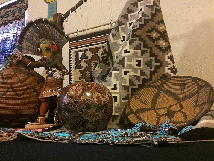 Some of the art and weavings available at the Smoki Museum's 21st annual Spring Indian Art and Navajo Rug Auction on Friday and Saturday, March 16-17. (Jason Wheeler/Kudos)