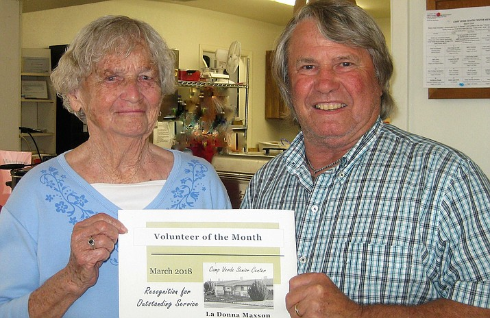 The Camp Verde Senior Center has named LaDonna Maxson the Volunteer of the Month for the month of March.