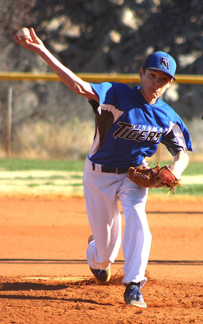 Kingman Academy's Wyatt Hall picked up the win against Antelope after allowing one earned run in five innings of work.