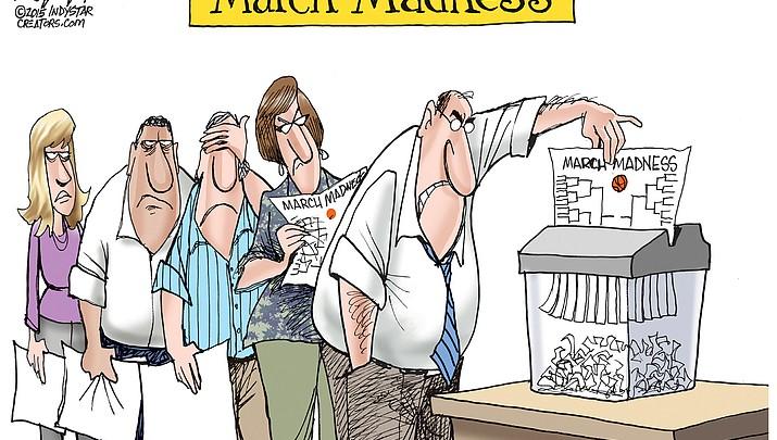 Editorial cartoon 2: March 21, 2018 PVT