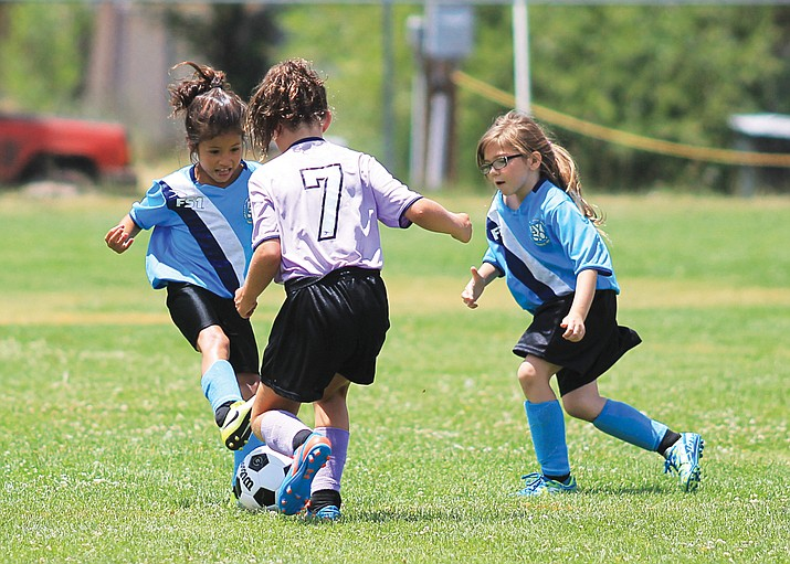 AYSO soccer players enjoy a game in 2017 in Williams. (Wendy Howell/WGCN)
