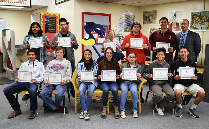 Holbrook High School February Students of the Month. (Submitted photo)