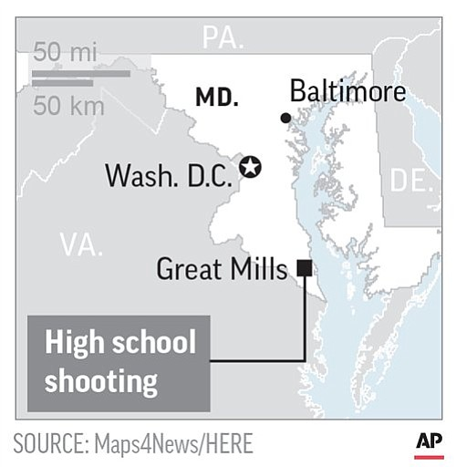 A shooting at a Maryland high school Tuesday morning left three people injured including the shooter.