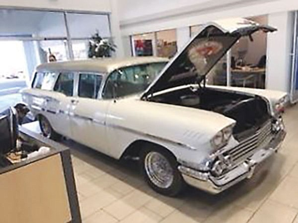 This 1958 Chevrolet Yeoman station wagon is being auctioned off by Silver Auction AZ.