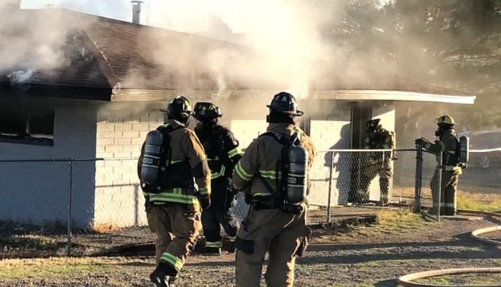 Copper Canyon fire officials said the fire appeared to have originated in the bedroom, and was attributed to the use of smoking materials in bed. Photos courtesy of CCFMA