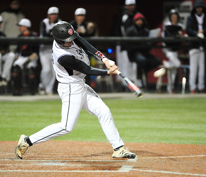 Bradshaw Mountain's Travis Robinson, shown here batting against Coconino at home on March 1, went 2 for 3 with two doubles in the Bears' 9-2 Grand Canyon region loss to Lee Williams Thursday afternoon in Kingman. (Courier file)