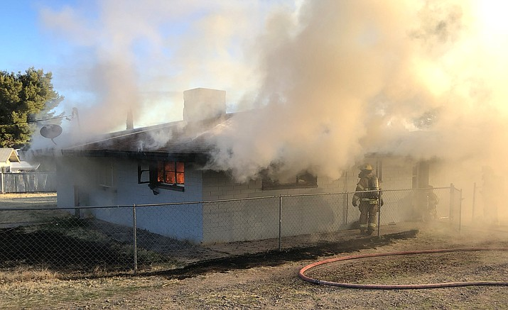 Copper Canyon fire officials said a fire at a home in Camp Verde Wednesday appeared to have originated in the bedroom, and was attributed to the use of smoking materials in bed. (Copper Canyon Fire & Medical Authority)