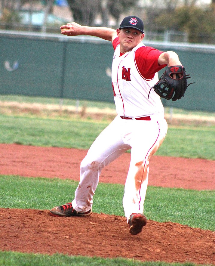 Mike Bathauer allowed no earned runs on three hits with seven strikeouts and two walks in 6 2/3 innings of work against Bradshaw Mountain.