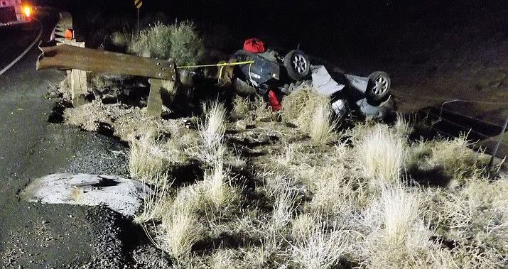 The driver of this vehicle died in a rollover accident Thursday evening on Diamond Bar Road.