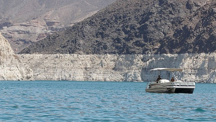 Evidence of a continuing, two-decade drought is visible in summer 2017 at Lake Mead, which is fed by the Colorado River in northwest Arizona/southern Nevada. (Alexis Kuhbander/Cronkite News, File)