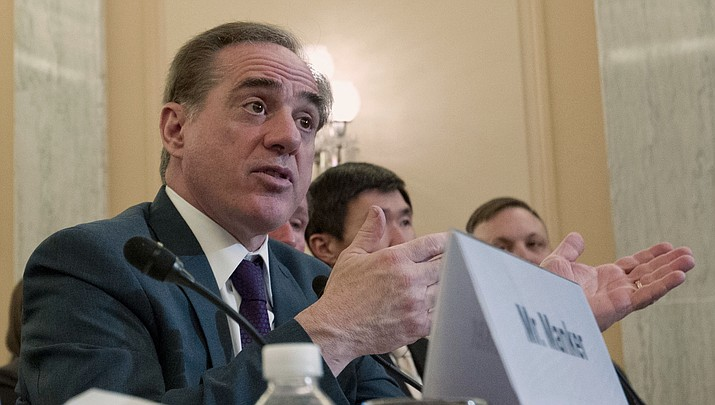 Veterans Affairs Secretary David Shulkin testifies on FY2019 and FY2020 budgets for veterans programs before the Senate Committee on Veterans Affairs on Capitol Hill, Wednesday, March 21, 2018, in Washington. (Jose Luis Magana/AP)