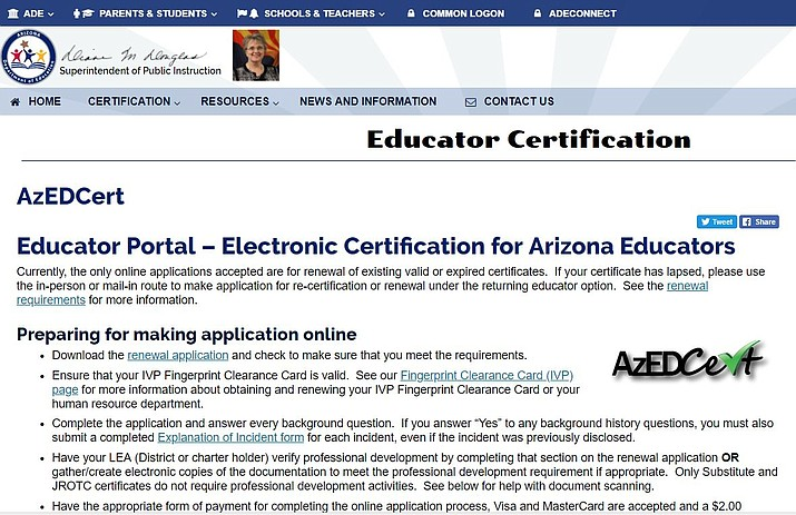 Teachers Can Renew Certificates Online Kingman Daily Miner