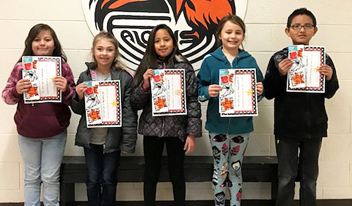 Lorena Gomez-Sotelo, Briley Wintheiser, Sopia Vega, Savannah Fuller and Jayden Cooke are the March Students of the Month at Williams Elementary-Middle School. (Submitted photo)